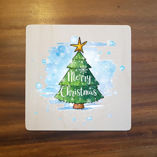 card-002 크리스마스카드 특별한 우드카드