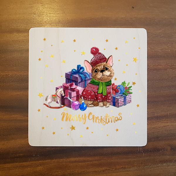 card-003 크리스마스카드 특별한 우드카드