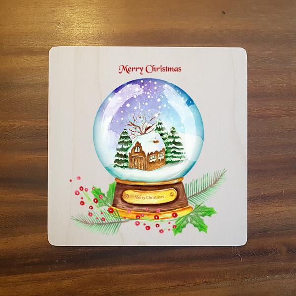 card-004 크리스마스카드 특별한 우드카드