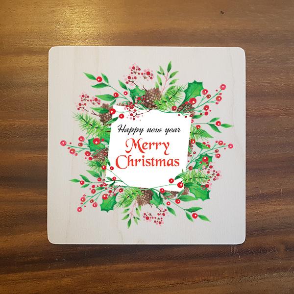 card-006 크리스마스카드 특별한 우드카드