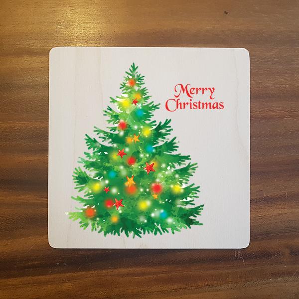 card-007 크리스마스카드 특별한 우드카드
