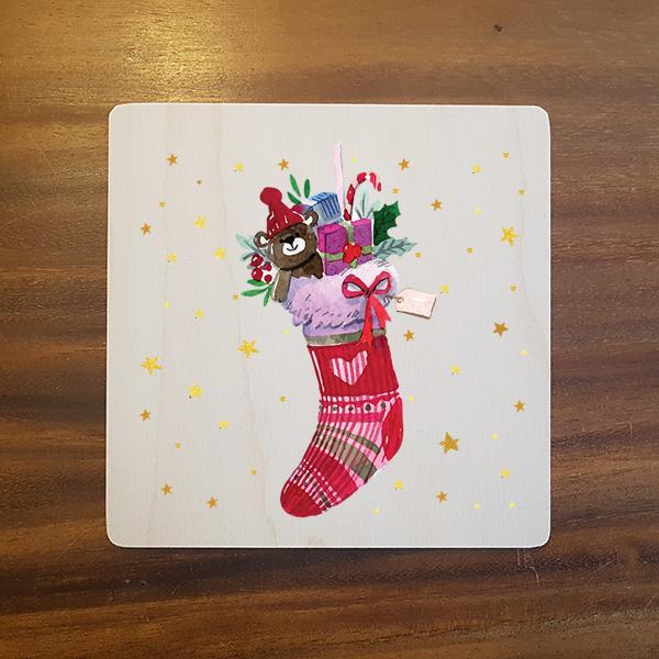 card-008 크리스마스카드 특별한 우드카드