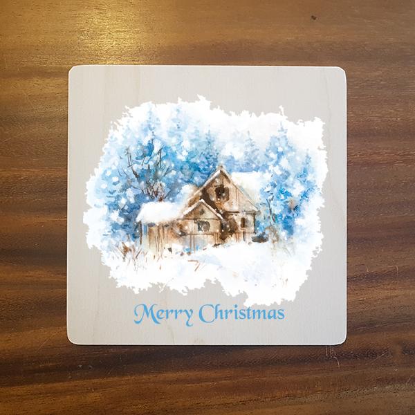 card-009 크리스마스카드 특별한 우드카드