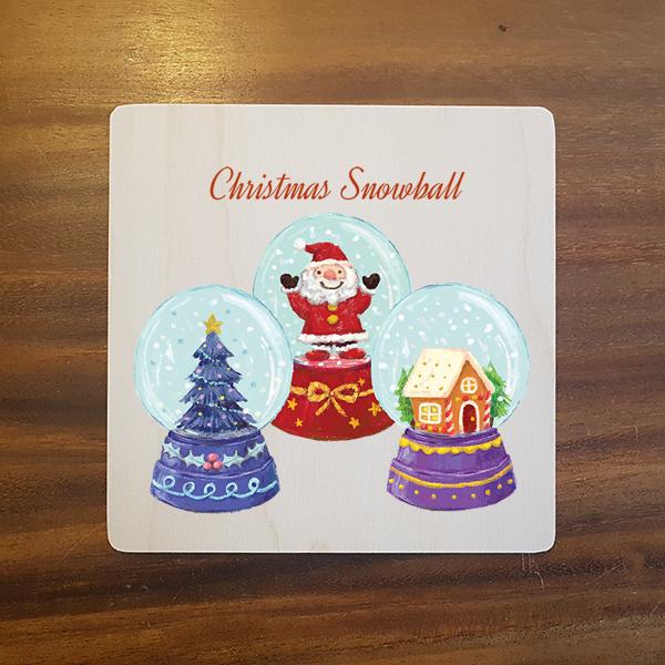 card-010 크리스마스카드 특별한 우드카드