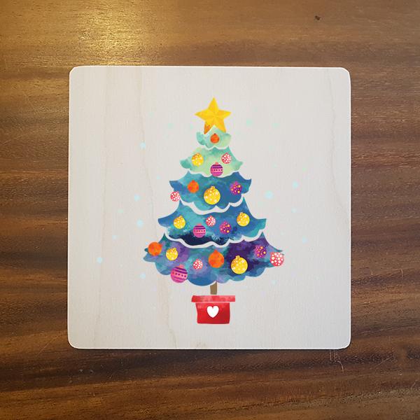 card-011 크리스마스카드  특별한 우드카드