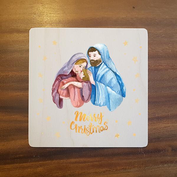 card-014 크리스마스카드 특별한 우드카드