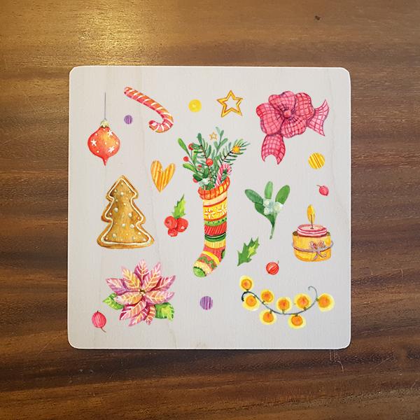 card-015 크리스마스카드 특별한 우드카드