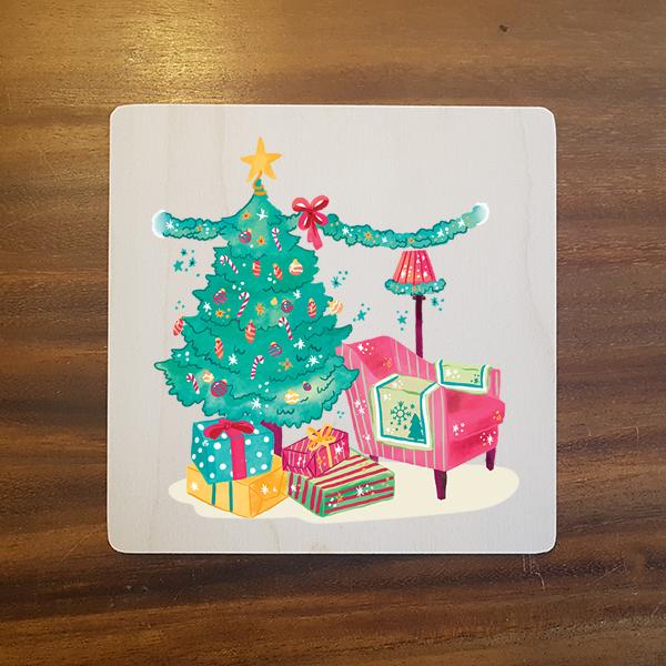 card-016 크리스마스카드 특별한 우드카드