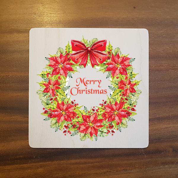 card-017 크리스마스카드 특별한 우드카드