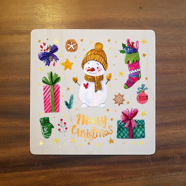 card-019 크리스마스카드 특별한 우드카드