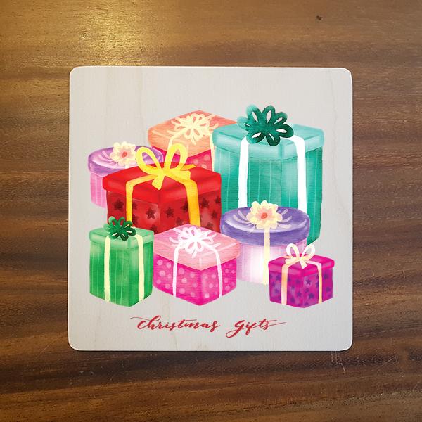 card-020 크리스마스카드 특별한 우드카드
